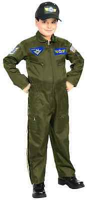 Air Force Fighter Pilot Top Gun Flight Suit Fancy Dress Halloween Child Costume (Top Gun Costume Kids)