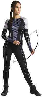 Katniss Everdeen Hunger Games Jumpsuit Fancy Dress Up Halloween Adult Costume](Hunger Games Katniss Everdeen Halloween Costumes)