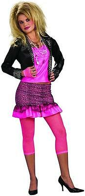 80's Groupie Pop Rock Star Retro Party Girl Fancy Dress Halloween Adult Costume (80's Party Girl Halloween Kostüm)