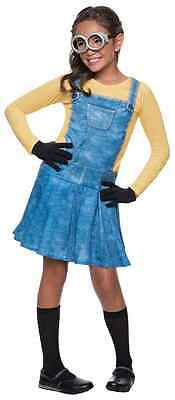 Female Minion Despicable Me Minions Movie Fancy Dress Halloween Child Costume - Despicable Me Girls Costumes