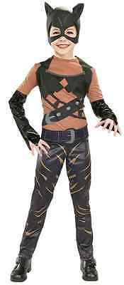 Catwoman Movie Batman Halle Berry Black Cat Fancy Dress Halloween Child Costume