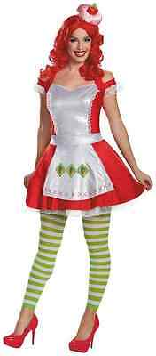 Strawberry Shortcake Retro Cartoon Fancy Dress Halloween Deluxe Adult Costume