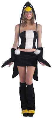 Sexy Women's Penguin Winter Bird Animal Cute Halloween Adult Mini Skirt Costume ()