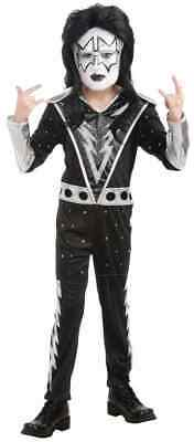 Spaceman KISS Band Ace Frehley Rock Star Fancy Dress Up Halloween Child Costume