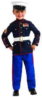 Marine Dress Blues Formal Military Hero Fancy Dress Up Halloween Child Costume