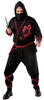 Ninja Warrior Asian Martial Arts Fancy Dress Halloween Plus Size Adult - Plus Size Asian Costumes
