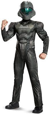 Spartan Buck Muscle Halo Military Soldier Fancy Dress Halloween Child Costume