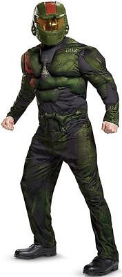 Spartan Jerome Muscle Halo Military Soldier Fancy Dress Halloween Adult - Halo Soldier Costume