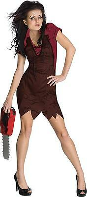 Miss Leatherface Texas Chainsaw Massacre Fancy Dress Up Halloween Adult Costume](Leatherface Halloween Costumes)