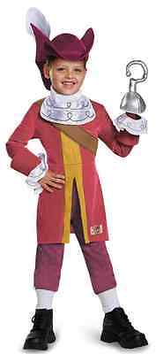 Captain Hook Deluxe Jake Never Land Pirates Fancy Dress Halloween Child Costume](Captain Hook Baby Costume)