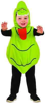 Slimer Ghostbusters Green Ghost Fancy Dress Up Halloween Toddler Child Costume