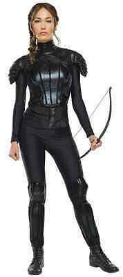 Katniss Everdeen Rebel Hunger Games Black Fancy Dress Up Halloween Adult Costume](Hunger Games Katniss Everdeen Halloween Costumes)