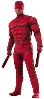 Daredevil Marvel Superhero Red Fancy Dress Up Halloween Deluxe Adult Costume - Marvel Daredevil Costume