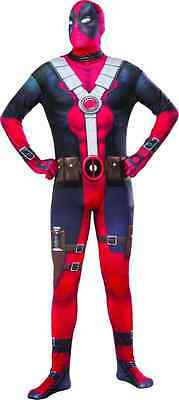 Deadpool 2nd Skin Suit Marvel Superhero Fancy Dress Up Halloween Adult Costume
