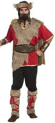 Viking King Warrior Chieftain Norse Nordic Fancy Dress Halloween Adult Costume