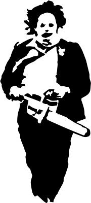 Leatherface vinyl decal sticker Texas Chainsaw Massacre  Chainsaw Decal Sticker