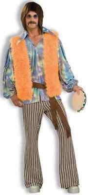 60's Singer Sonny Bono Hippie Rock Star Fancy Dress Up Halloween Adult - 60's Rock Star Kostüm