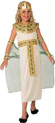 Cleopatra White Egyptian Queen Fancy Dress Up Halloween Child Costume