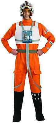 X-Wing Fighter Pilot Star Wars Jumpsuit Fancy Dress Up Halloween Adult Costume