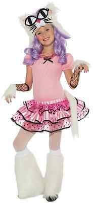 Mee-Oow Playful Kitty Cat Kitten Animal Pink Fancy Dress Halloween Child Costume