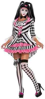 Ring Mistress Harlequin Clown Circus Fancy Dress Up Halloween Sexy Adult Costume