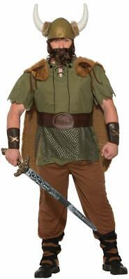 Viking Chieftain Warrior King Fancy Dress Up Halloween Deluxe Adult Costume
