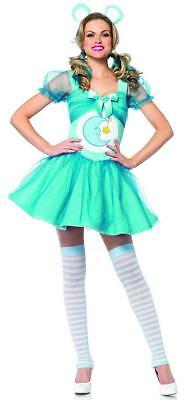 Bedtime Bear Care Bears Retro Blue Fancy Dress Up Halloween Sexy Adult Costume