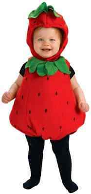 Berry Cute Strawberry Food Fruit Fancy Dress Up Halloween Toddler Child Costume