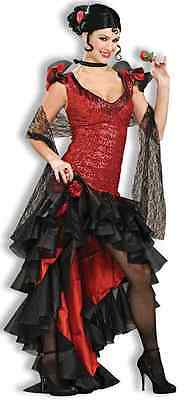 Spanish Dancer Senorita Salsa Flamenco Fancy Dress Up Halloween Adult Costume