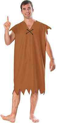 Barney Rubble Flintstones Caveman Brown Fancy Dress Up Halloween Adult Costume