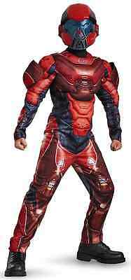 Red Spartan Halo (Red Spartan Muscle Halo Military Soldier Fancy Dress Up Halloween Child Costume)