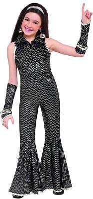 Disco Jumpsuit 70's Fever Retro Girl Fancy Dress Up Halloween Child - 70s Dress Up