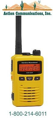 New Vertexstandard Evx-s24 Uhf 403-470 Mhz 3 Watt 256 Ch Yellow 2-way Radio