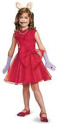 Miss Piggy Classic Muppets Red Gown Fancy Dress Up Halloween Child - Miss Piggy Kids Costume