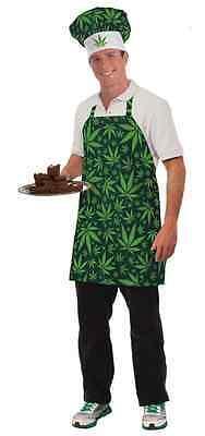 Marijuana Hat Apron Chef Cannabis Collection Dispensary Halloween Adult Costume