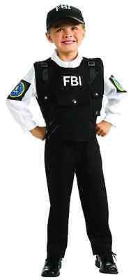 FBI Agent Special Police Officer Detective Fancy Dress Halloween Child Costume](Fbi Costume)