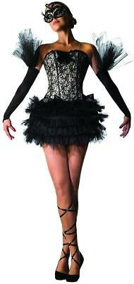 Black Swan Ballerina Gothic Ballet Dancer Fancy Dress Halloween Adult Costume - Black Swan Costumes
