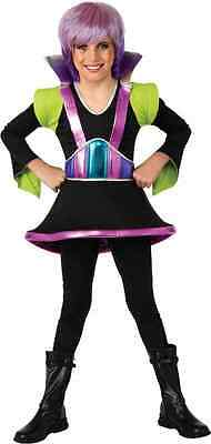Alien Girl Costume (Janet Planet Outer Space Girl Alien Black Fancy Dress Up Halloween Child)