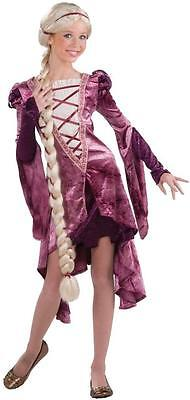Rapunzel Costume Teenager (Rapunzel Princess Tower Medieval Maiden Fancy Dress Up Halloween Teen)