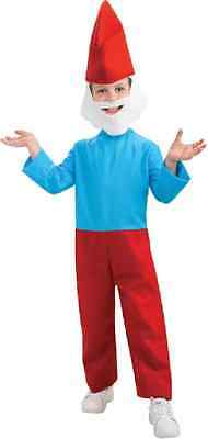 Papa Smurf The Smurfs Movie Gnome Blue Fancy Dress Up Halloween Child - Papa Smurf Halloween Costume