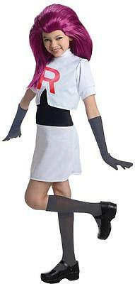 Jessie Pokemon Team Rocket Nintendo Fancy Dress Up Halloween Child Costume (Team Rocket Halloween Costumes)