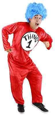 Dr. Seuss Cat Hat Fancy Dress Up Halloween Adult Costume (Dr. Seuss Thing 1 Halloween-kostüm)