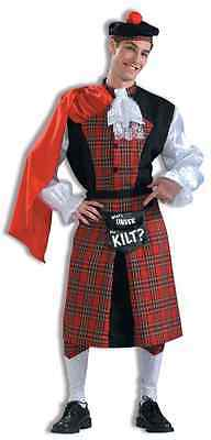 Whats Under the Kilt Scottish Funny Humor Fancy Dress Up Halloween Adult Costume