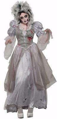 Zombie Never After Princess Ghost Woman Fancy Dress Halloween Adult - Halloween Costumes Zombie Princess