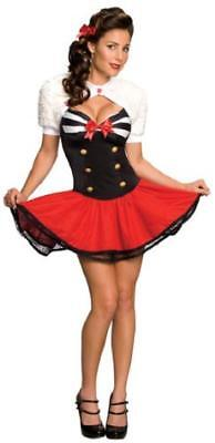 New SECRET WISHES NAVAL PIN UP SEXY SAILOR NAVY GIRL HALLOWEEN COSTUME XS](Navy Pin Up Girl Costume)