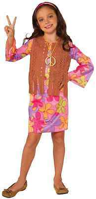 Sunshine Hippie Girl 60's Retro Groovy Fancy Dress Up Halloween Child Costume - 60s Dress Up