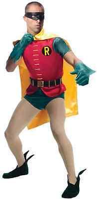 1966 Robin Costume (Robin 1966 Classic Batman TV Series Superhero Halloween Deluxe Adult)