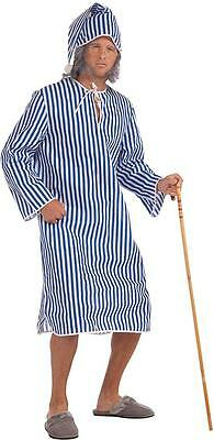 Christmas Carol Costumes (Scrooge's Nightshirt Christmas Carol Fancy Dress Up Halloween Adult)