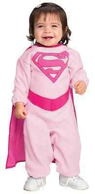 Supergirl Pink Romper DC Superhero Fancy Dress Up Halloween Baby Child Costume