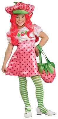 Strawberry Shortcake Pink Fancy Dress Up Halloween Deluxe Toddler Child Costume
